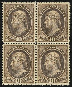 Sale Number 1061, Lot Number 3634, 1879-88 American Bank Note Co. Issue (Scott 182-218)10c Brown (209), 10c Brown (209)