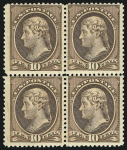Sale Number 1061, Lot Number 3635, 1879-88 American Bank Note Co. Issue (Scott 182-218)10c Brown (209), 10c Brown (209)