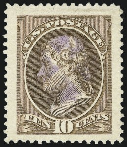 Sale Number 1061, Lot Number 3636, 1879-88 American Bank Note Co. Issue (Scott 182-218)10c Brown (209), 10c Brown (209)