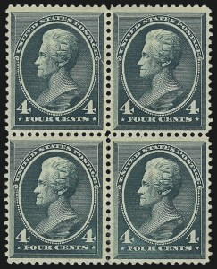 Sale Number 1061, Lot Number 3638, 1879-88 American Bank Note Co. Issue (Scott 182-218)4c Blue Green (211), 4c Blue Green (211)