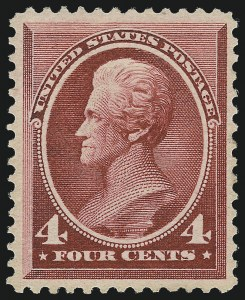 Sale Number 1061, Lot Number 3641, 1879-88 American Bank Note Co. Issue (Scott 182-218)4c Carmine (215), 4c Carmine (215)