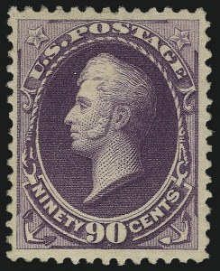 Sale Number 1061, Lot Number 3643, 1879-88 American Bank Note Co. Issue (Scott 182-218)90c Purple (218), 90c Purple (218)