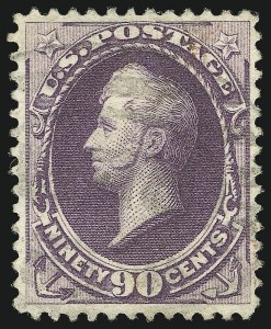Sale Number 1061, Lot Number 3644, 1879-88 American Bank Note Co. Issue (Scott 182-218)90c Purple (218), 90c Purple (218)