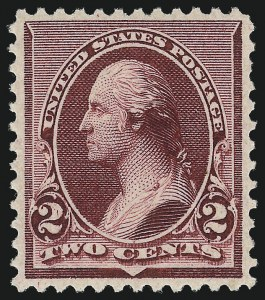 Sale Number 1061, Lot Number 3645, 1890-93 Issue (Scott 219D-229)2c Lake (219D), 2c Lake (219D)