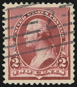"Sale Number 1061, Lot Number 3648, 1890-93 Issue (Scott 219D-229)2c Carmine, Cap on Both ""2""'s (220c), 2c Carmine, Cap on Both ""2""'s (220c)"