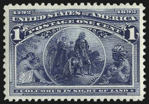 Sale Number 1061, Lot Number 3658, 1c-30c 1893 Columbian Issue (Scott 230-239)1c Columbian (230), 1c Columbian (230)