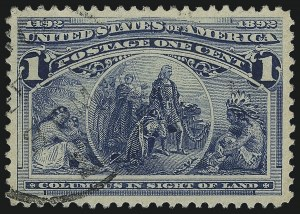 Sale Number 1061, Lot Number 3662, 1c-30c 1893 Columbian Issue (Scott 230-239)1c Columbian (230), 1c Columbian (230)