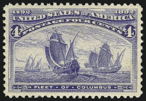 Sale Number 1061, Lot Number 3671, 1c-30c 1893 Columbian Issue (Scott 230-239)4c Columbian (233), 4c Columbian (233)