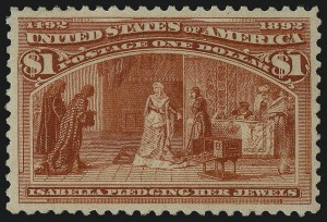 Sale Number 1061, Lot Number 3712, 50c-$5.00 1893 Columbian Issue (Scott 240-245)$1.00 Columbian (241), $1.00 Columbian (241)