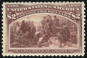 Sale Number 1061, Lot Number 3715, 50c-$5.00 1893 Columbian Issue (Scott 240-245)$2.00 Columbian (242), $2.00 Columbian (242)