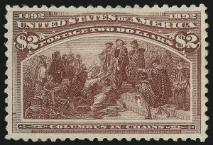 Sale Number 1061, Lot Number 3716, 50c-$5.00 1893 Columbian Issue (Scott 240-245)$2.00 Columbian (242), $2.00 Columbian (242)