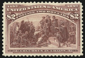 Sale Number 1061, Lot Number 3717, 50c-$5.00 1893 Columbian Issue (Scott 240-245)$2.00 Columbian (242), $2.00 Columbian (242)