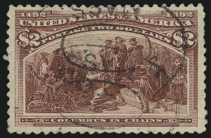 Sale Number 1061, Lot Number 3718, 50c-$5.00 1893 Columbian Issue (Scott 240-245)$2.00 Columbian (242), $2.00 Columbian (242)