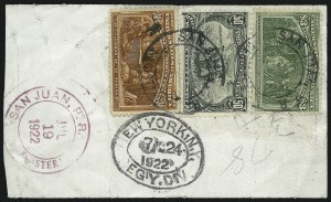 Sale Number 1061, Lot Number 3727, 50c-$5.00 1893 Columbian Issue (Scott 240-245)$3.00 Columbian (243), $3.00 Columbian (243)