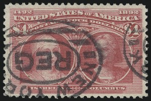 Sale Number 1061, Lot Number 3732, 50c-$5.00 1893 Columbian Issue (Scott 240-245)$4.00 Rose Carmine, Columbian (244a), $4.00 Rose Carmine, Columbian (244a)