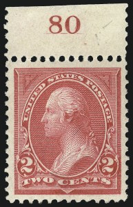Sale Number 1061, Lot Number 3758, 1894-98 Bureau Issues (Scott 246-281)2c Carmine, Ty. I (265), 2c Carmine, Ty. I (265)