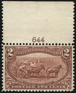 Sale Number 1061, Lot Number 3781, 1898 Trans-Mississippi Issue (Scott 286-293)2c Trans-Mississippi (286), 2c Trans-Mississippi (286)
