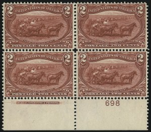 Sale Number 1061, Lot Number 3782, 1898 Trans-Mississippi Issue (Scott 286-293)2c Trans-Mississippi (286), 2c Trans-Mississippi (286)