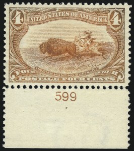 Sale Number 1061, Lot Number 3784, 1898 Trans-Mississippi Issue (Scott 286-293)4c Trans-Mississippi (287), 4c Trans-Mississippi (287)