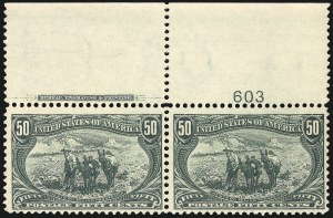 Sale Number 1061, Lot Number 3796, 1898 Trans-Mississippi Issue (Scott 286-293)50c Trans-Mississippi (291), 50c Trans-Mississippi (291)