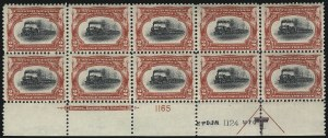 Sale Number 1061, Lot Number 3807, 1901 Pan-American Issue (Scott 294-299)2c Pan-American (295), 2c Pan-American (295)