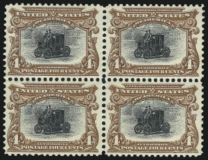 Sale Number 1061, Lot Number 3810, 1901 Pan-American Issue (Scott 294-299)4c Pan-American (296), 4c Pan-American (296)