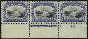 Sale Number 1061, Lot Number 3812, 1901 Pan-American Issue (Scott 294-299)5c Pan-American (297), 5c Pan-American (297)