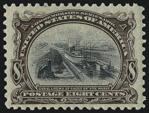 Sale Number 1061, Lot Number 3813, 1901 Pan-American Issue (Scott 294-299)8c Pan-American (298), 8c Pan-American (298)