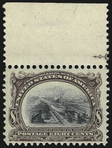 Sale Number 1061, Lot Number 3814, 1901 Pan-American Issue (Scott 294-299)8c Pan-American (298), 8c Pan-American (298)