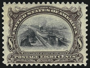Sale Number 1061, Lot Number 3815, 1901 Pan-American Issue (Scott 294-299)8c Pan-American (298), 8c Pan-American (298)