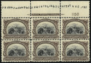Sale Number 1061, Lot Number 3816, 1901 Pan-American Issue (Scott 294-299)8c Pan-American (298), 8c Pan-American (298)
