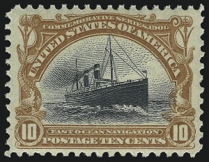 Sale Number 1061, Lot Number 3817, 1901 Pan-American Issue (Scott 294-299)10c Pan-American (299), 10c Pan-American (299)