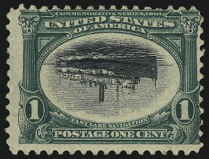 Sale Number 1061, Lot Number 3818, 1901 Pan-American Issue (Scott 294-299)1c Pan-American, Center Inverted (294a), 1c Pan-American, Center Inverted (294a)