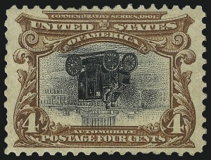 Sale Number 1061, Lot Number 3819, 1901 Pan-American Issue (Scott 294-299)4c Pan-American, Center Inverted (296a), 4c Pan-American, Center Inverted (296a)