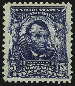 Sale Number 1061, Lot Number 3821, 1902-08 Issues, 1904 and 1907 Commemoratives (Scott 300-330)5c Blue (304), 5c Blue (304)