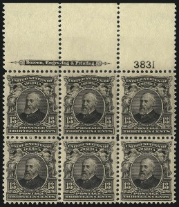 Sale Number 1061, Lot Number 3823, 1902-08 Issues, 1904 and 1907 Commemoratives (Scott 300-330)13c Purple Black (308), 13c Purple Black (308)