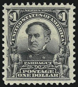 Sale Number 1061, Lot Number 3829, 1902-08 Issues, 1904 and 1907 Commemoratives (Scott 300-330)$1.00 Black (311), $1.00 Black (311)
