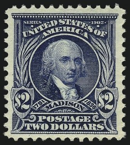 Sale Number 1061, Lot Number 3830, 1902-08 Issues, 1904 and 1907 Commemoratives (Scott 300-330)$2.00 Dark Blue (312), $2.00 Dark Blue (312)