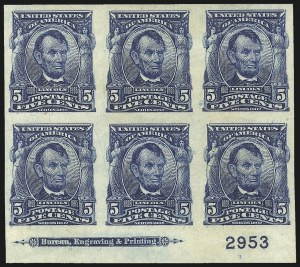 Sale Number 1061, Lot Number 3840, 1902-08 Issues, 1904 and 1907 Commemoratives (Scott 300-330)5c Blue, Imperforate (315), 5c Blue, Imperforate (315)