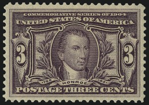 Sale Number 1061, Lot Number 3841, 1902-08 Issues, 1904 and 1907 Commemoratives (Scott 300-330)3c Louisiana Purchase (325), 3c Louisiana Purchase (325)