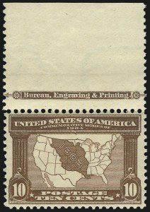 Sale Number 1061, Lot Number 3845, 1902-08 Issues, 1904 and 1907 Commemoratives (Scott 300-330)10c Louisiana Purchase (327), 10c Louisiana Purchase (327)