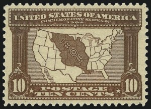 Sale Number 1061, Lot Number 3846, 1902-08 Issues, 1904 and 1907 Commemoratives (Scott 300-330)10c Louisiana Purchase (327), 10c Louisiana Purchase (327)
