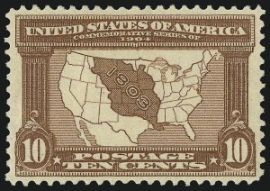 Sale Number 1061, Lot Number 3847, 1902-08 Issues, 1904 and 1907 Commemoratives (Scott 300-330)10c Louisiana Purchase (327), 10c Louisiana Purchase (327)