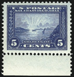Sale Number 1061, Lot Number 3887, 1913-15 Panama-Pacific Issue (Scott 397-404)5c Panama-Pacific (399), 5c Panama-Pacific (399)