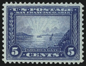 Sale Number 1061, Lot Number 3888, 1913-15 Panama-Pacific Issue (Scott 397-404)5c Panama-Pacific (399), 5c Panama-Pacific (399)