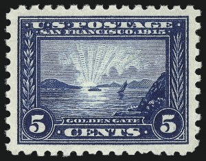 Sale Number 1061, Lot Number 3892, 1913-15 Panama-Pacific Issue (Scott 397-404)5c Panama-Pacific, Perf 10 (403), 5c Panama-Pacific, Perf 10 (403)