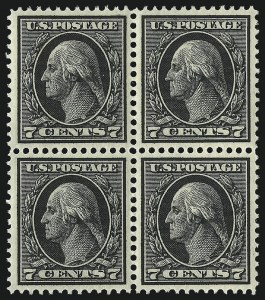 Sale Number 1061, Lot Number 3899, 1912-14 Washington-Franklin Issue (Scott 407-459)7c Black (407), 7c Black (407)