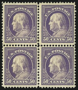 Sale Number 1061, Lot Number 3906, 1912-14 Washington-Franklin Issue (Scott 407-459)50c Violet (421), 50c Violet (421)