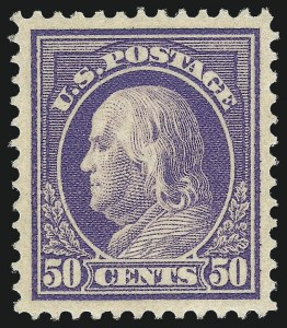 Sale Number 1061, Lot Number 3907, 1912-14 Washington-Franklin Issue (Scott 407-459)50c Violet (422), 50c Violet (422)