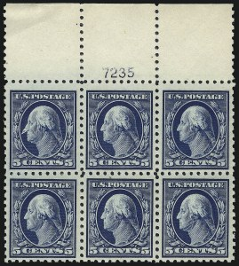 Sale Number 1061, Lot Number 3910, 1912-14 Washington-Franklin Issue (Scott 407-459)5c Blue (428), 5c Blue (428)